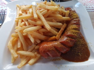 Currywurst rot